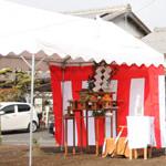 【写真】新庄中町の家 地鎮祭・起工式