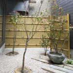 【写真】木之本の家 中庭完成