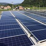 【写真】太陽光発電システム設置