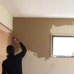 【写真】米原の家 塗り壁工事