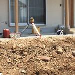 【写真】入江の家 外構工事開始