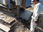 【写真】地盤改良工事