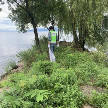 【写真】琵琶湖清掃